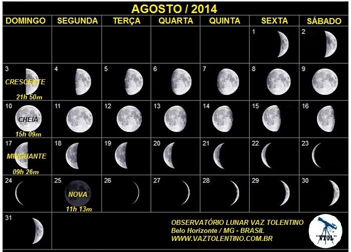 Céu do mês  Agosto de 2014   Vaz Tolentino Observatório Lunar d20bee640a